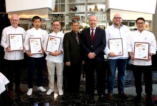 Bangkok Top Chefs Take Centre Stage at Top 25 Restaurants Awards Certificates Presentation